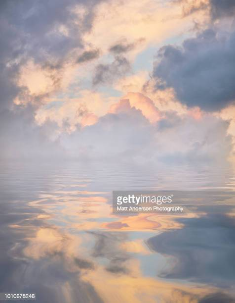 atmospheric reflections pale blue - the four elements stock pictures, royalty-free photos & images