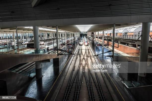 atocha high velocity railway station - alta velocidad espanola stock pictures, royalty-free photos & images
