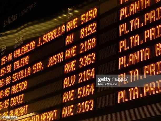 atocha station - alta velocidad espanola stock pictures, royalty-free photos & images