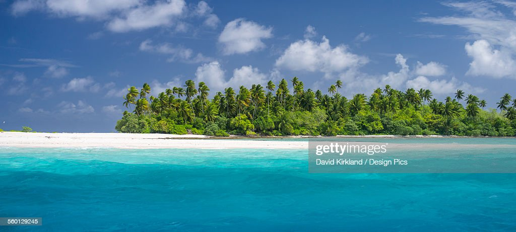 Atoll in the Kiribati Islands : Stock Photo