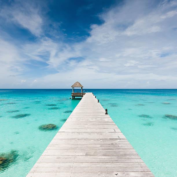 Atoll Jetty Wooden Pier Fakarava French Polynesia Beach Holidays