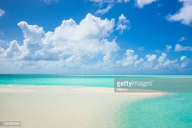 Atoll Lagoon Sand Bank Turquoise Clear Waters