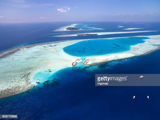 Atolls in between the islands