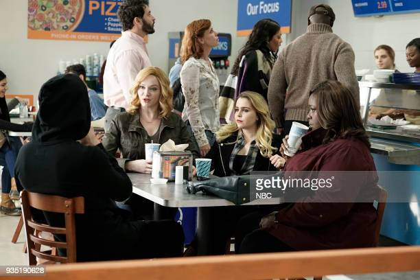 GIRLS Atom Bomb Episode 104 Pictured Manny Montana as Rio Christina Hendricks as Beth Mae Whitman as Annie Retta as Ruby