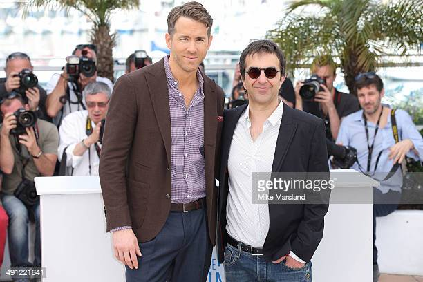 Atom Egoyan and Ryan Reynolds attend 'Captives' photocall at the 67th Annual Cannes Film Festival on May 16 2014 in Cannes France
