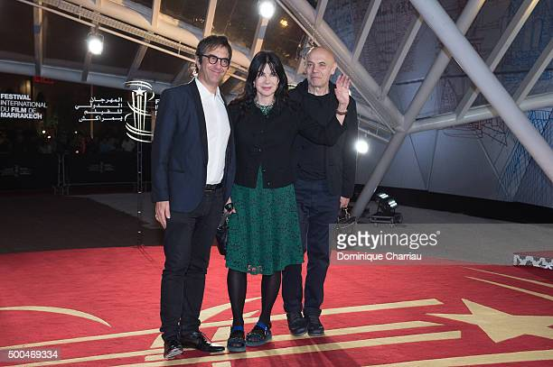 Atom Egoyan Carole Laure and Lewis Furey attend the ' La Isla' premiere during the 5th Marrakech International Film Festival on December 8 2015 in...