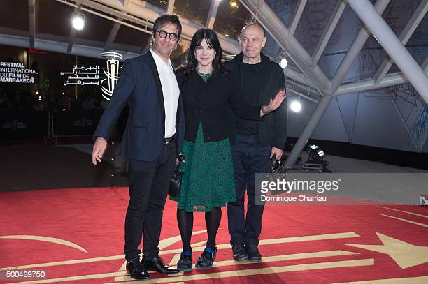 Atom Egoyan Carole Laure and Lewis Furey attend the La Isla premiere during the 5th Marrakech International Film Festival on December 8 2015 in...