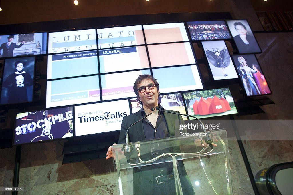 Atom Egoyan speaks to the gathering . Luminato organizer Jorn Weisbrodt, Artistic Director, unveiled details of the lineup for this year's festival. Atom Egoyan will show Feng Yi ting Thursday June 20.