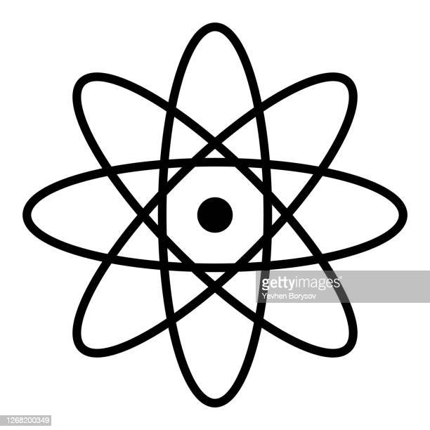 atom icon illustrator vector. simple atom symbol - atom stock pictures, royalty-free photos & images