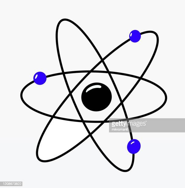 atom molecule science symbol drawing - nucleus stock pictures, royalty-free photos & images