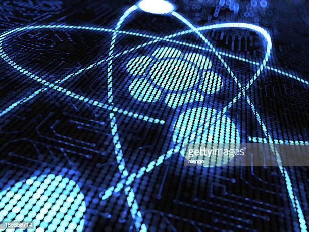 atom - orbiting stock-fotos und bilder