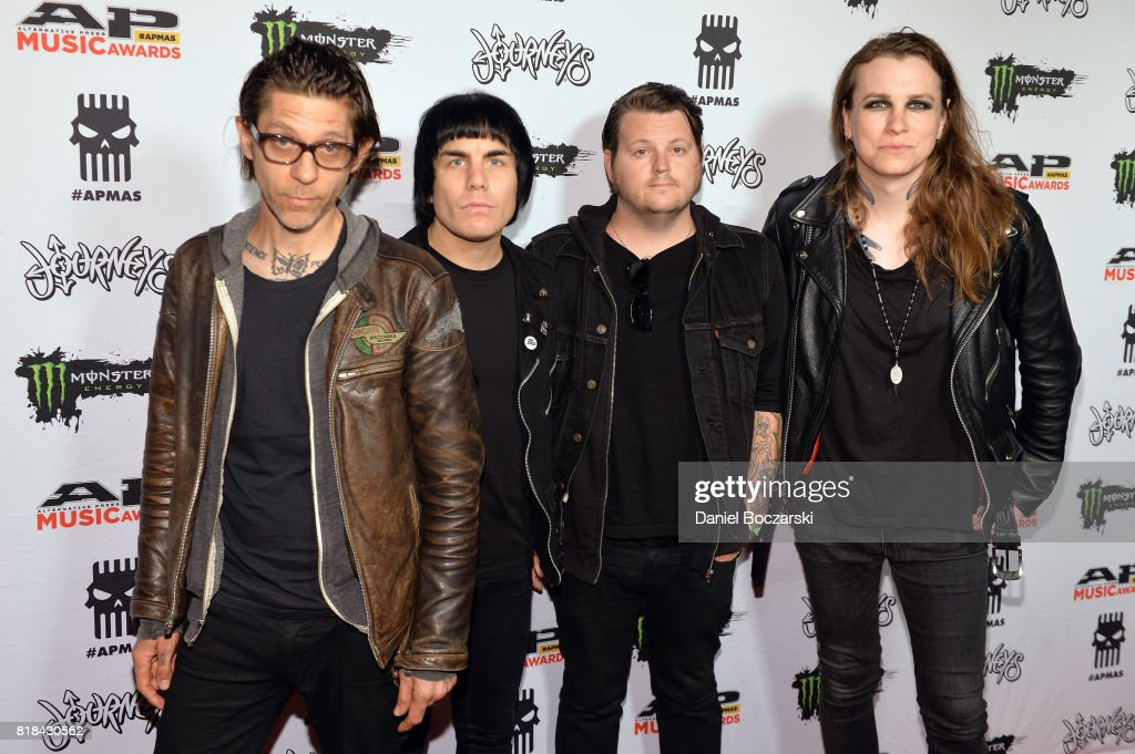 Atom Willard, Inge Johnson, James Bowman and Laura Jane Grace of Against Me! attend the 2017 Alternative Press Music Awards at KeyBank State Theatre on July 17, 2017 in Cleveland, Ohio.
