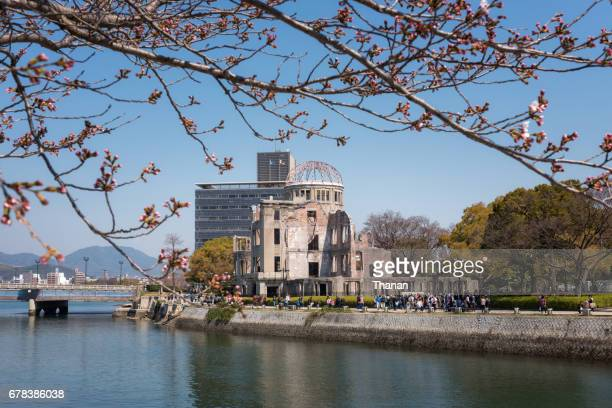 atomic bomb dome - hiroshima city stock photos and pictures