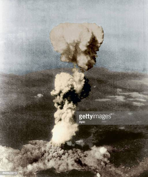 Atomic bomb on Hiroshima in Japan on august 6 1945