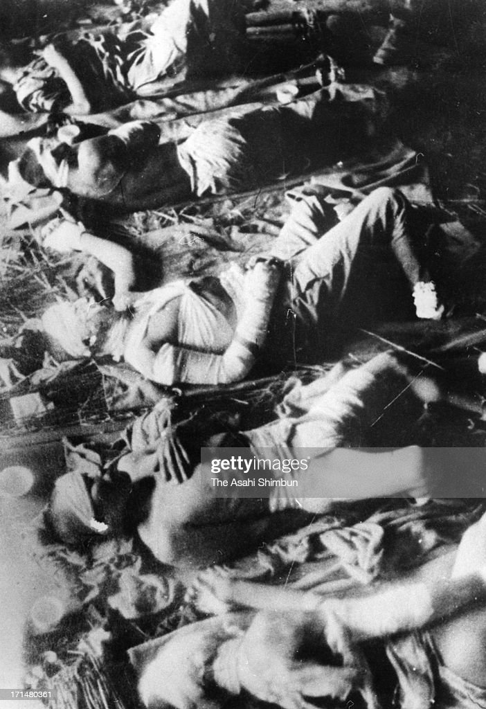 Atomic bomb survivors lie on the floor, waiting for receive treatment at temporary hospital set at Fukuya Department Store in August 1945 in Hiroshima, Japan. The world's first atomic bomb was dropped on Hiroshima on August 6, 1945 by the United States at the end of World War II, killing an estimated 70,000 people instantly. Three days later another atomic bomb was dropped on Nagasaki. With the effects of radiation, many thousands more dying over the following years and the number of the victims are thought to be approximately 340,000 people.