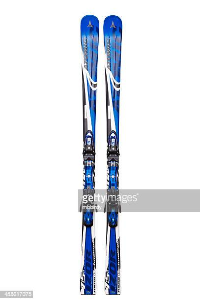 Atomic carving skis, isolated on white, clipping path
