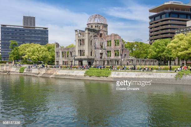atomic dome in hiroshima - hiroshima city stock photos and pictures