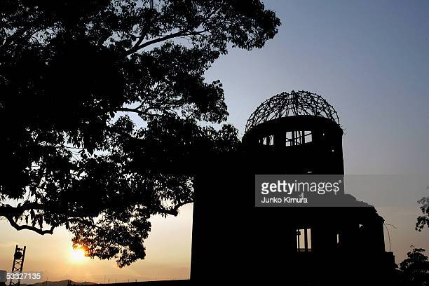 Atomic Dome is seen in the Hiroshima Peace Memorial Park on August 5, 2005 in Hiroshima, Japan. Hiroshima marks the 60th anniversary of the dropping...