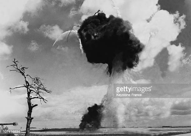 Atomic Explosion During Army Exercise At Salisbury Plain In England On September 14Th 1955