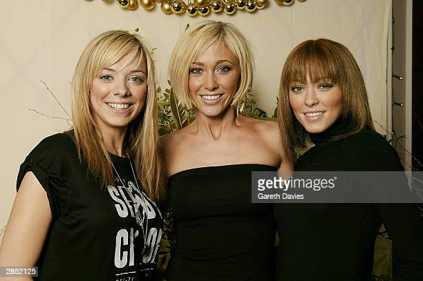 Atomic Kitten band members Liz McClarnon Jenny Frost and Natasha Hamilton attend The Great Ormond Street Hospital Charity Fundraiser on December 14...