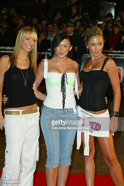 Atomic Kitten during NRJ Music Awards 2003 - Cannes - Arrivals at Palais des Festivals in Cannes, France.
