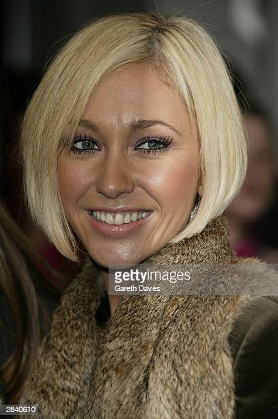 Atomic Kitten member Jenny Frost attend the 2003 MTV Europe Music Awards at Ocean Terminal on November 6 2003 in Edinburgh Scotland
