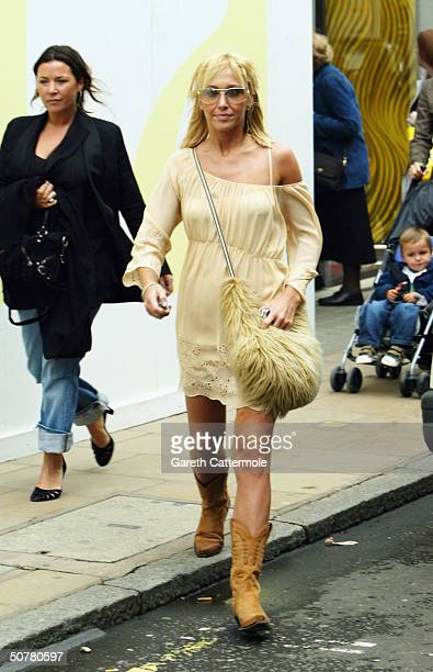 Atomic Kitten singer Jenny Frost goes shopping on April 28 2004 in Central London