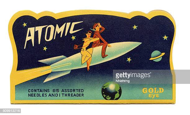 atomic sewing needle packet - showa period stock pictures, royalty-free photos & images