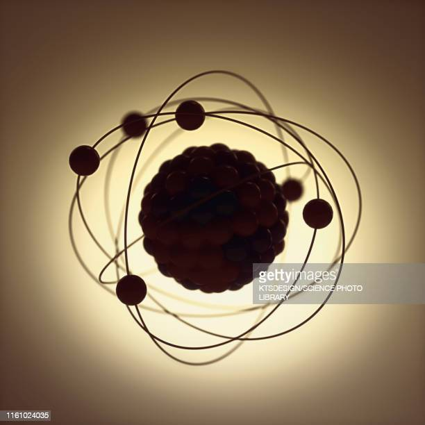 atomic structure, illustration - 電子 ストックフォトと画像