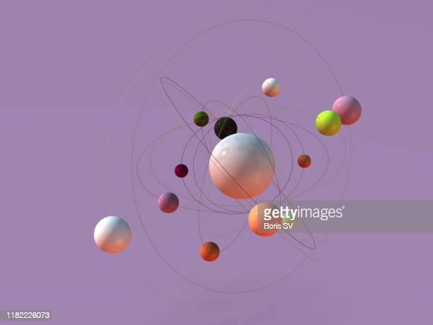 atoms orbiting - nucleus stock pictures, royalty-free photos & images