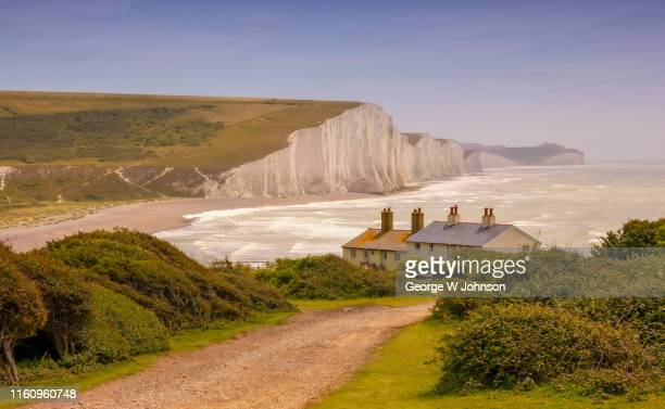 atonement i - beachy head stock photos and pictures