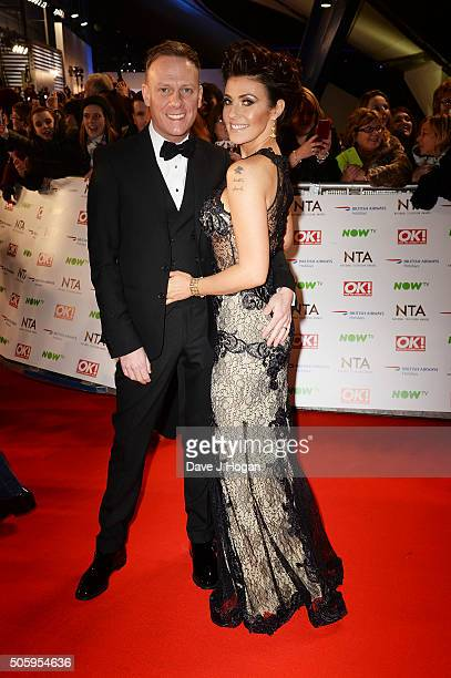 Atony Cotton and Kym Marsh attends the 21st National Television Awards at The O2 Arena on January 20 2016 in London England