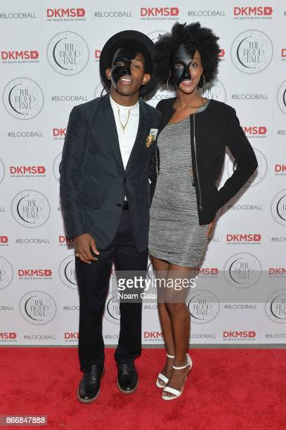 Ator Camrus Johnson and guest attend the 2017 DKMS Blood Ball at Spring Place on October 26 2017 in New York City