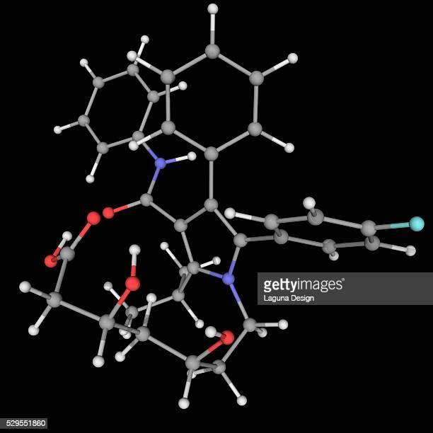Atorvastatin drug molecule