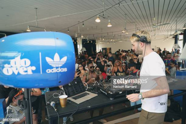Track spins during 'The Do Over' with adidas at the Ace Hotel during Coachella weekend on April 15 2018 in Indio California