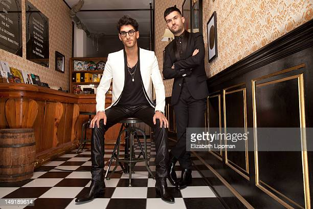 Trak and brother Dave 1 the lead vocalist and guitarist of Chromeo are photographed for New York Times on April 19 2012 in New York City