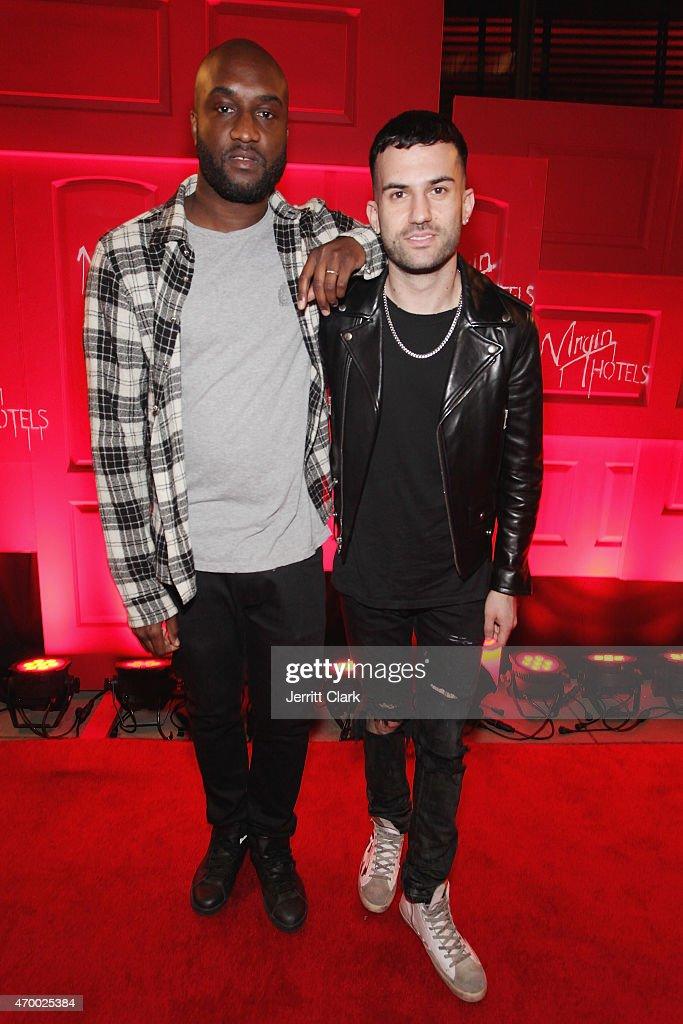 A-Trak and Virgil Abloh, Creative Director for Kanye West