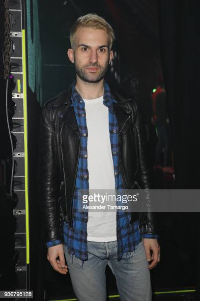 Trak is seen backstage during the Diplo Launch of His Exclusive SiriusXM Channel Diplo's Revolution At The Faena Theater on March 22 2018 in Miami...