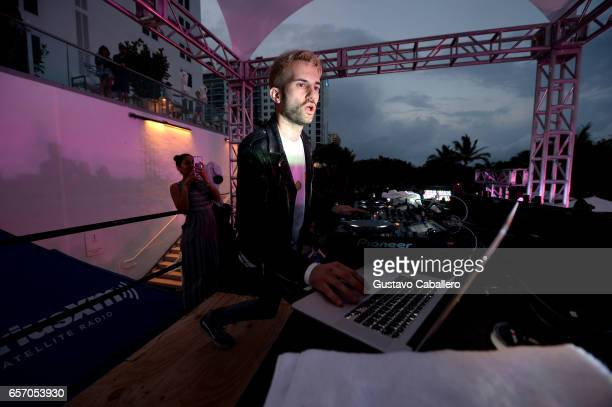 Trak performs at the SiriusXM Music Lounge at 1 Hotel South Beach on March 23 2017 in Miami Florida