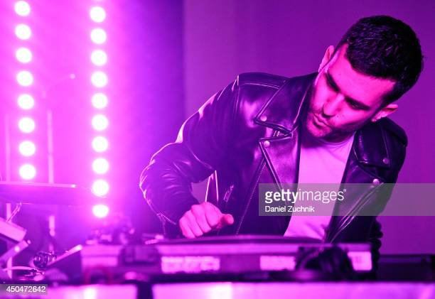 Trak performs during the Monster Children Magazine Issue Launch Celebration at Pioneer Works on June 11 2014 in New York City
