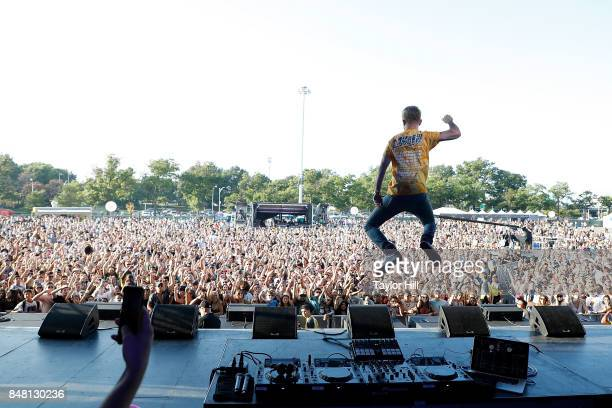 Trak performs onstage during Day 2 at The Meadows Music Arts Festival at Citi Field on September 16 2017 in New York City