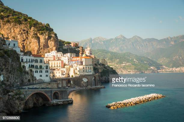 atrani, amalfi coast, campania, sorrento, italy. - sorrento stock pictures, royalty-free photos & images