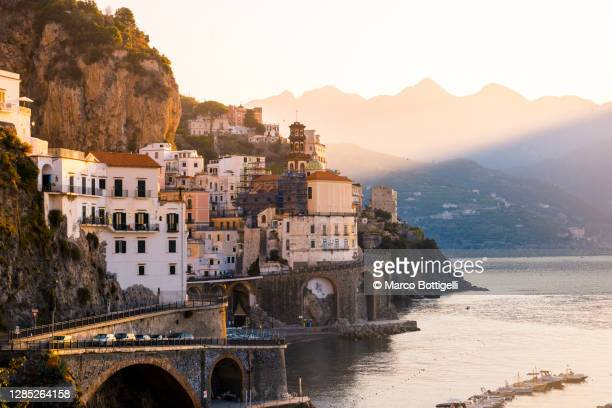 atrani, amalfi coast, italy - mediterranean culture stock pictures, royalty-free photos & images