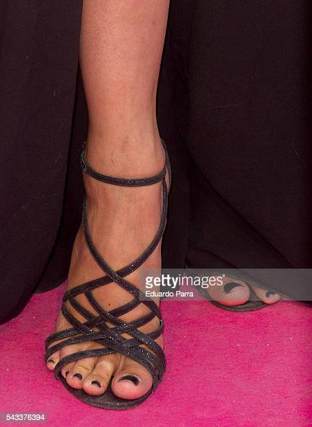 Atress Dafne Fernandez shoes detail attends the 'Yo Dona' international awards at La Quinta de la Munoza on June 27 2016 in Madrid Spain
