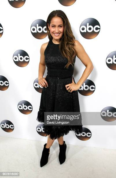 Atress Jaina Lee Ortiz attends Disney ABC Television Group's TCA Winter Press Tour 2018 at The Langham Huntington Pasadena on January 8 2018 in...