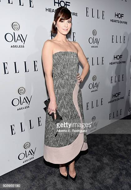Atress Mary Elizabeth Winstead attends ELLE's 6th Annual Women in Television Dinner Presented by Hearts on Fire Diamonds and Olay at Sunset Tower on...