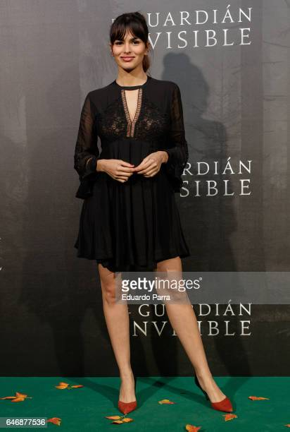Atress Sara Salamo attends the 'El guardian invisible' premiere at Capitol cinema on March 1 2017 in Madrid Spain