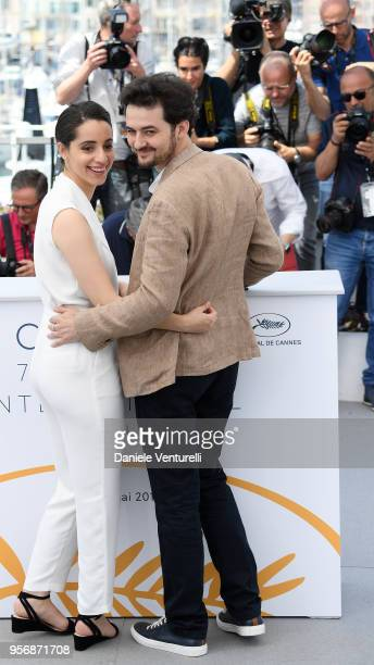 Atress Shahira Fahmy and director AB Shawky attend the photocall for 'Yomeddine' during the 71st annual Cannes Film Festival at Palais des Festivals...