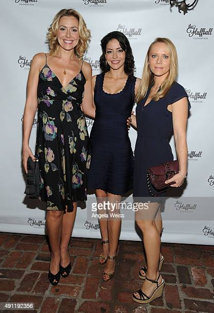 Atresses Allison McAtee Emmanuelle Vaugier and Tanja Reichert attend The Fluffball 2015 at The Little Door on October 3 2015 in Los Angeles California