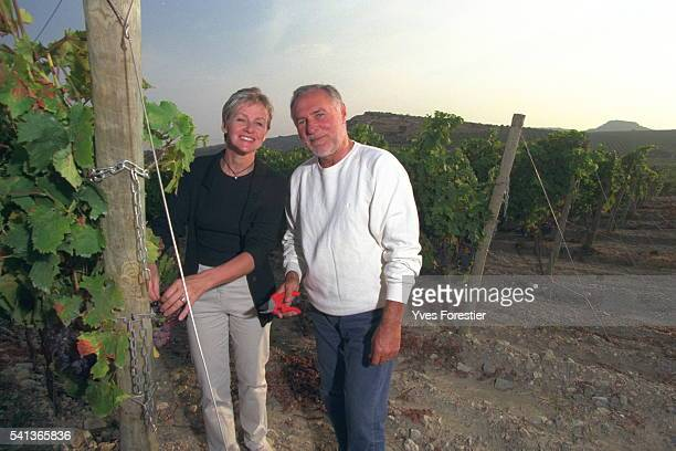 B{atrice BuyckRibourel with her husband Jacques in their vineyard the Hospitalet wine growing estate